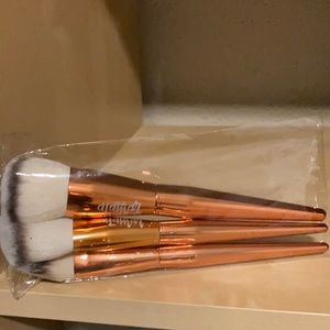 Alamar rose gold makeup brush set